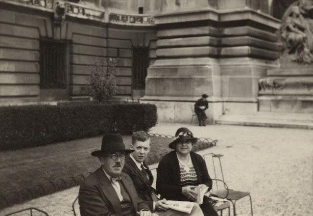Frank Bridge; Benjamin Britten; Ethel Bridge  by Unknown photographer snapshot print NPG x15184 © National Portrait Gallery, London