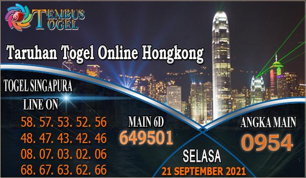 Taruhan Togel Online Hongkong, Selasa 21 September 2021 Tembus Togel
