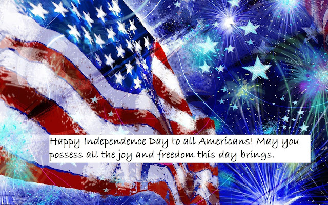 4th of July Message with Image for Facebook