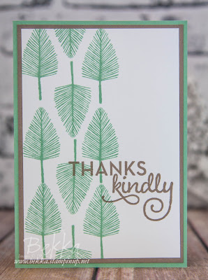 Make In A Moment Thank You Card With The New Totally Trees Stamp Set from Stampin' Up! UK