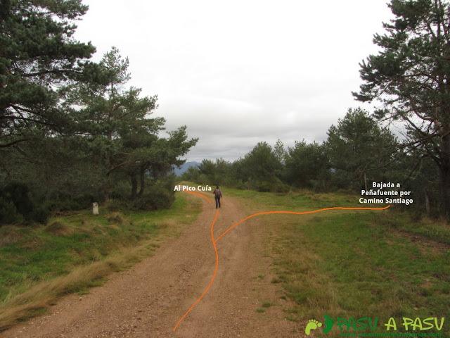 Cruce con el camino de Santiago hacia el Pico Cuía