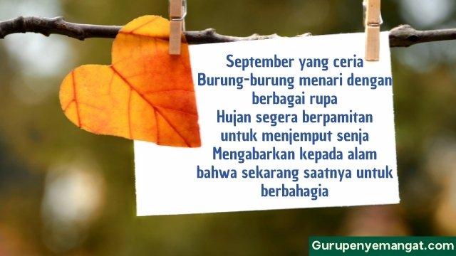 Puisi September Ceria