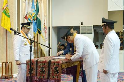 Gubernur Lampung M.Ridho Ficardo Lantik Bupati dan Wakil Bupati Lampung Utara Periode 2019 - 2024