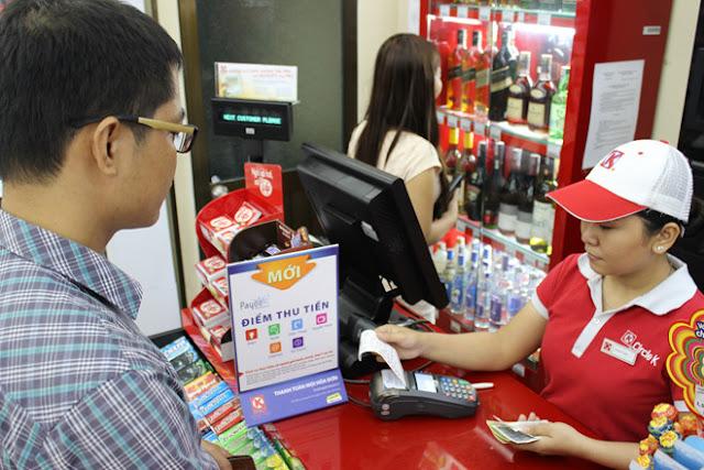 Thanh toán vé máy bay tại các cửa hàng có liên kết với Payoo