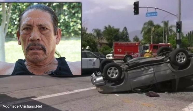 Danny Trejo rescata a un niño en accidente automovilístico