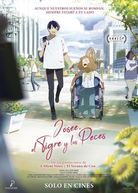 La película anime Josee, el Tigre y los Peces llega a los cines de la mano de Selecta Vision.