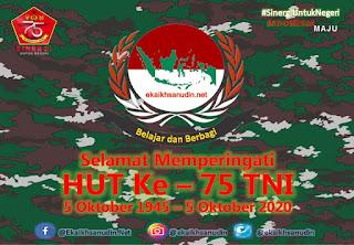 Selamat HUT Ke - 75 TNI Tahun 2020
