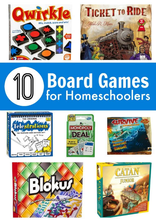 10 Board Games for Homeschoolers