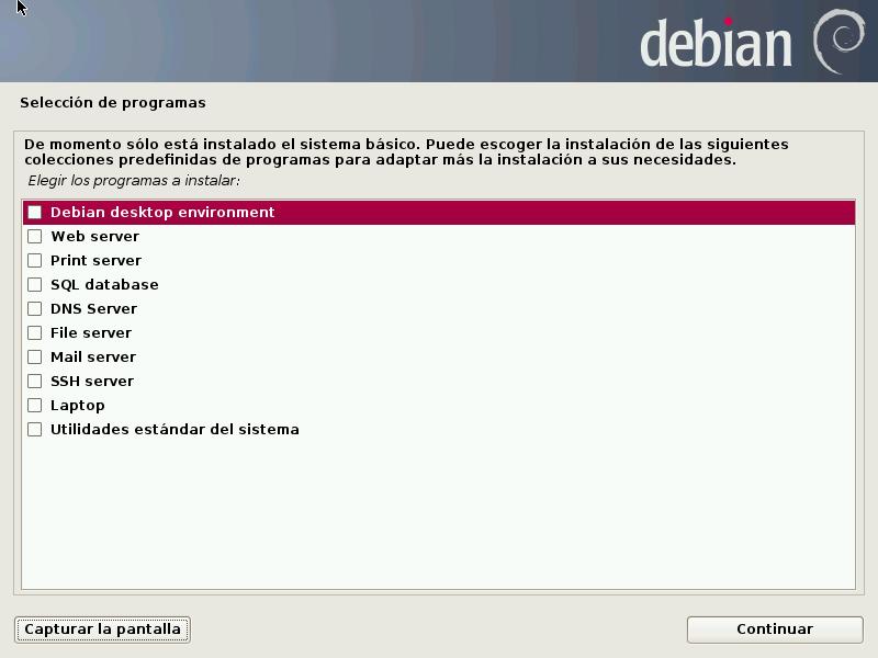 Debian TaskSel