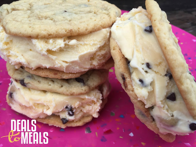 Recipe:  Cookie, Recipe:  Dessert, Deals to Meals, Homemade Chocolate Chip Ice Cream Sandwiches,