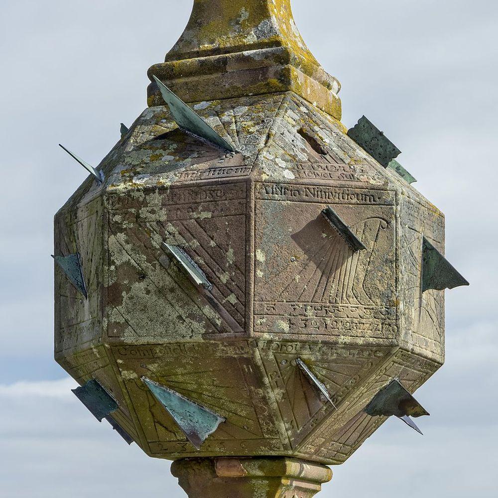 Sundial at Mont Sainte-Odile Abbey