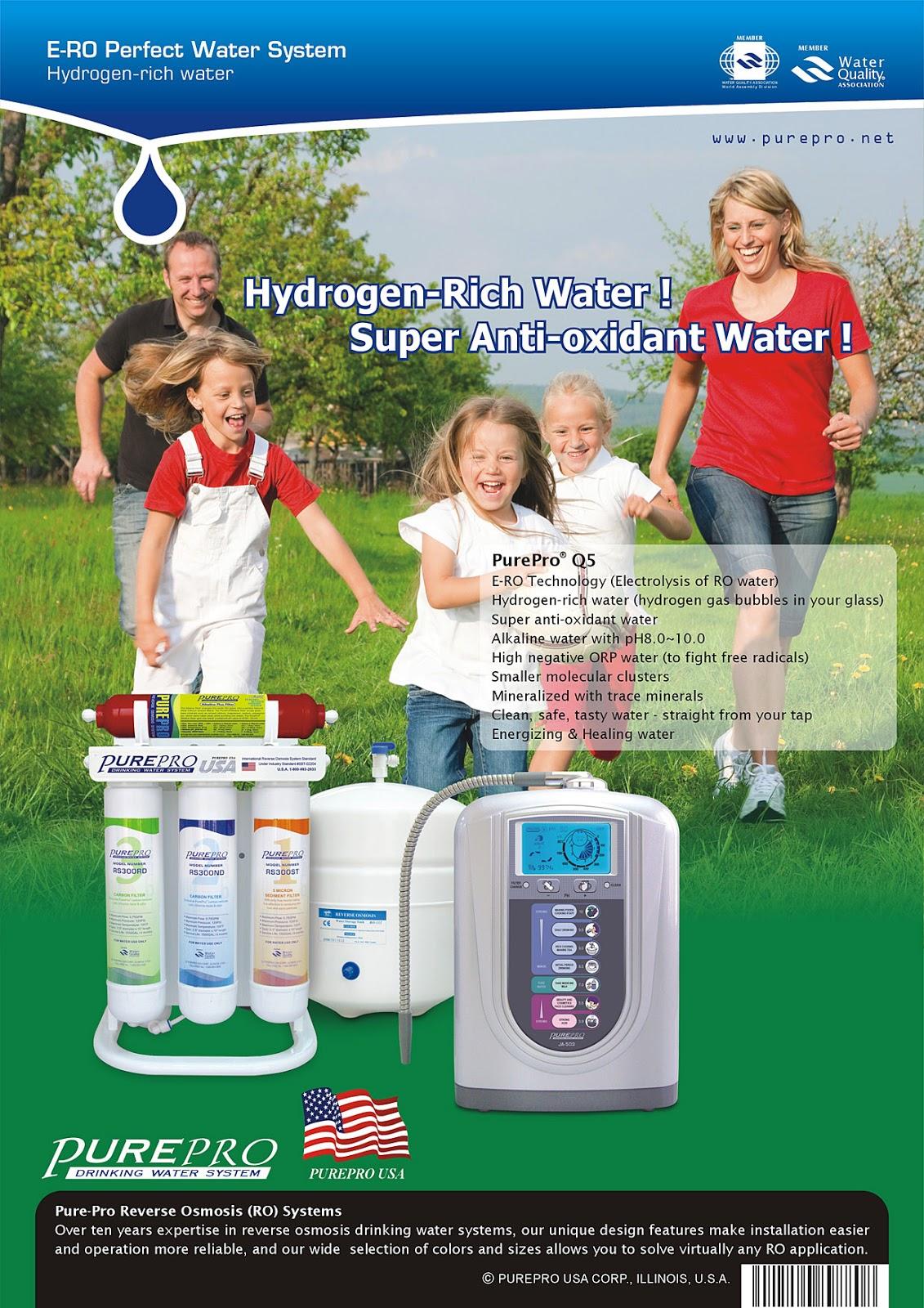 美國 ERO 氫水機 PurePro® Q5 完美水系統 : 頂尖科技的結合 - 美國PurePro®健康還原水