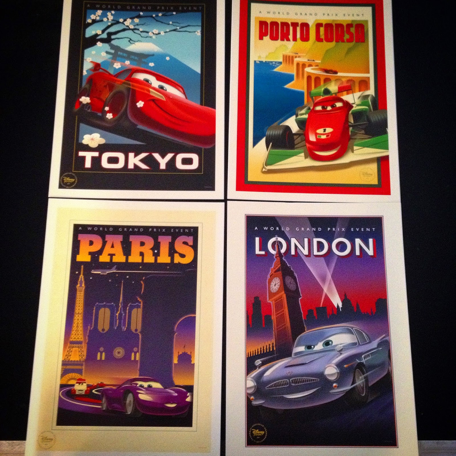 Dan The Pixar Fan Cars 2 Disney Store Lithograph Travel Poster