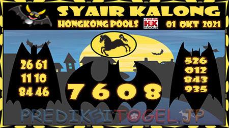 Kalong HK Jumat 01 Oktober 2021 -