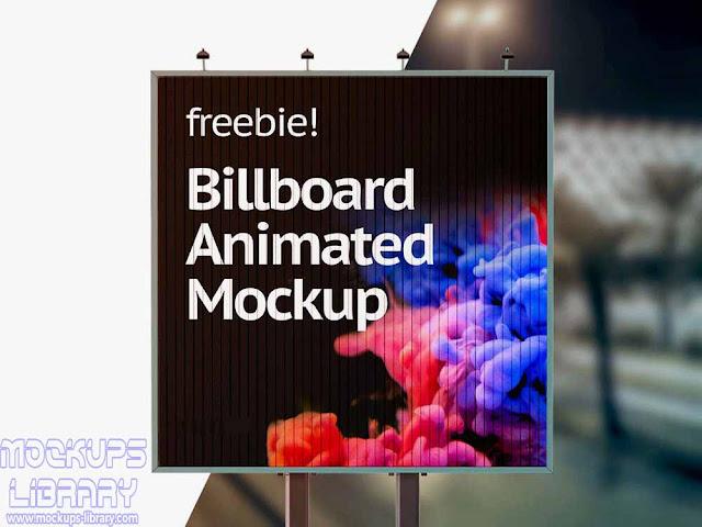 animated billboard mockup free