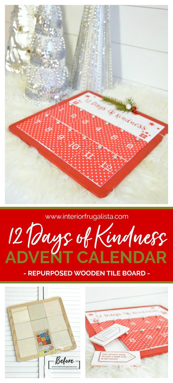 Twelve Days of Kindness DIY Advent Calendar