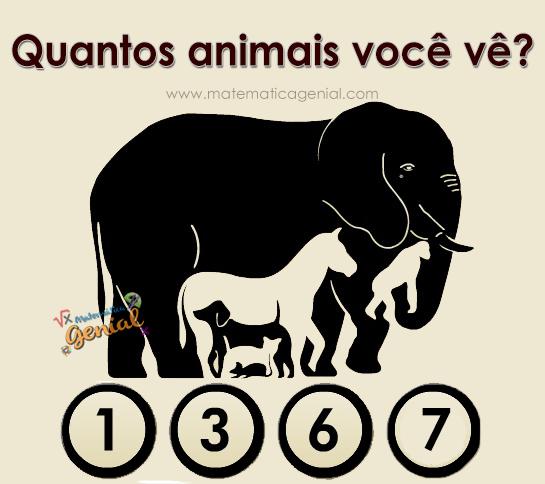 Desafio: Quantos animais você vê na imagem?