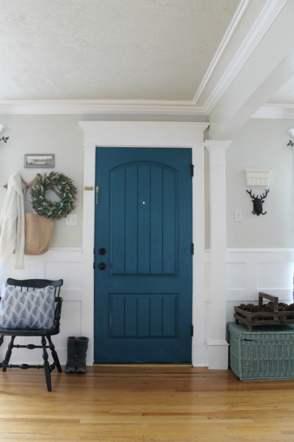 Navy painted door by The Wicker House