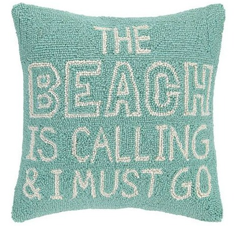 Beach Pillow Quote