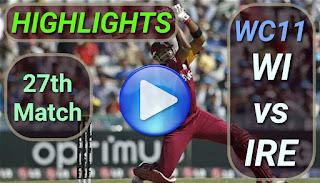 WI vs IRE 27th Match