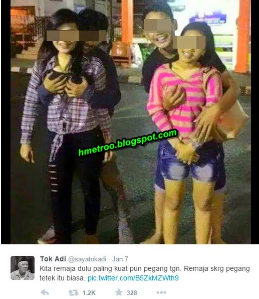 Gambar  Aksi Bergambar Gadis Melayu Dengan Teman Lelaki