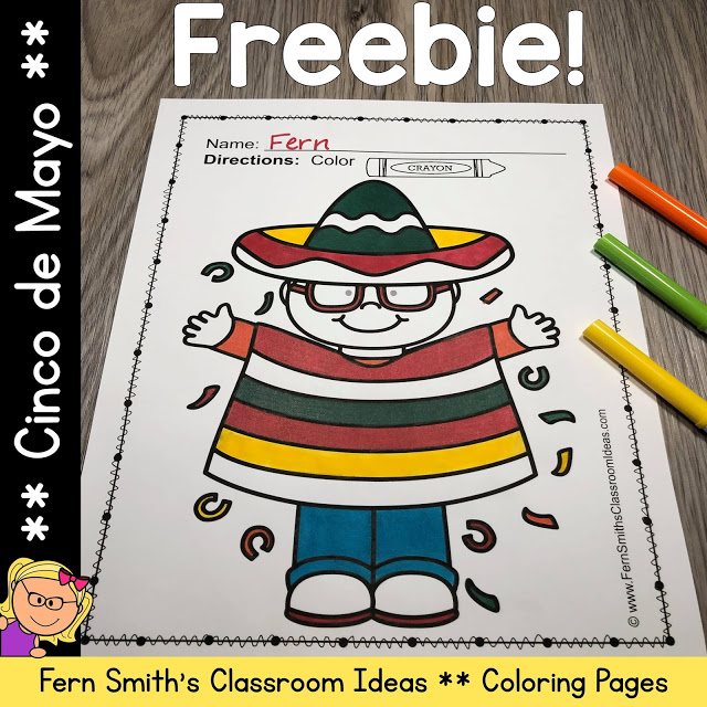 One of my FAVORITE Freebies, Cinco de Mayo Coloring Pages Freebie!