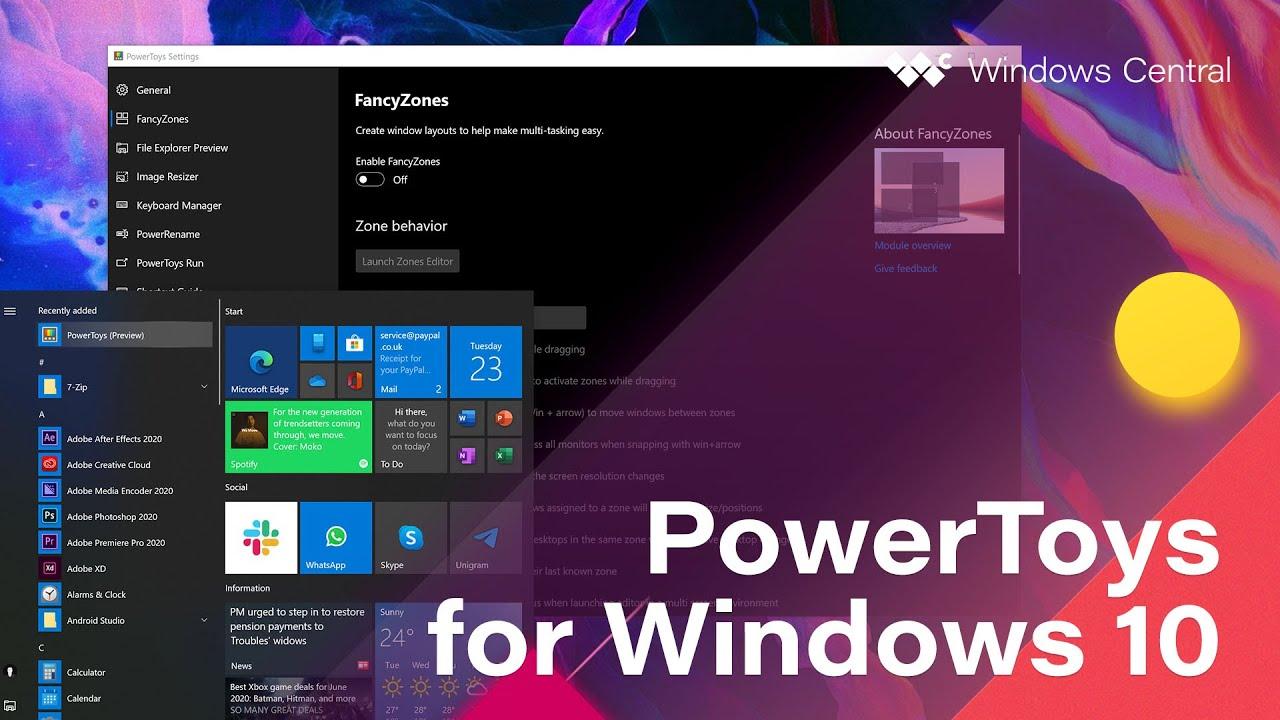 """كيفية تشغيل البرامج بشكل سريع داخل ويندوز 10  من خلال """"PowerToys"""""""