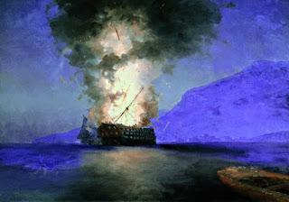 """Картина """"Взрыв корабля"""""""