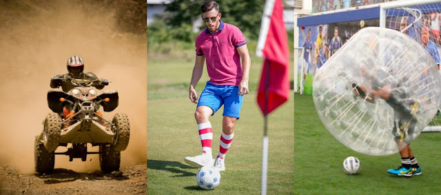 3 brilliant stag do activities - quad biking racing, foot golf and bubble football