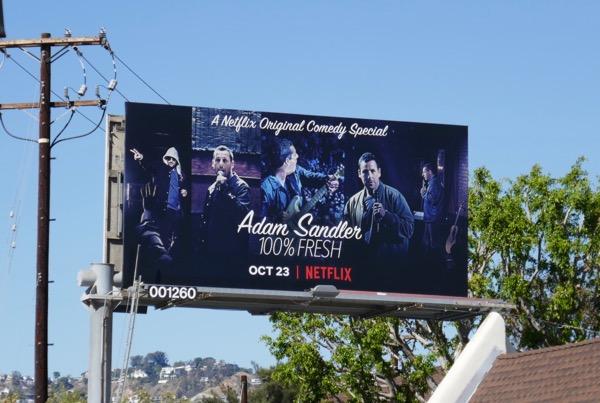 Adam Sandler 100% Fresh billboard