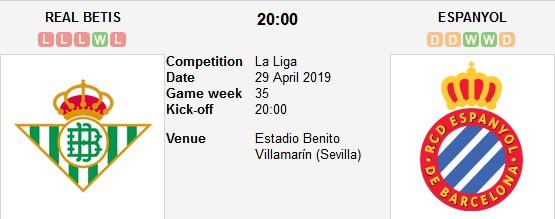 real betis vs espanyol live