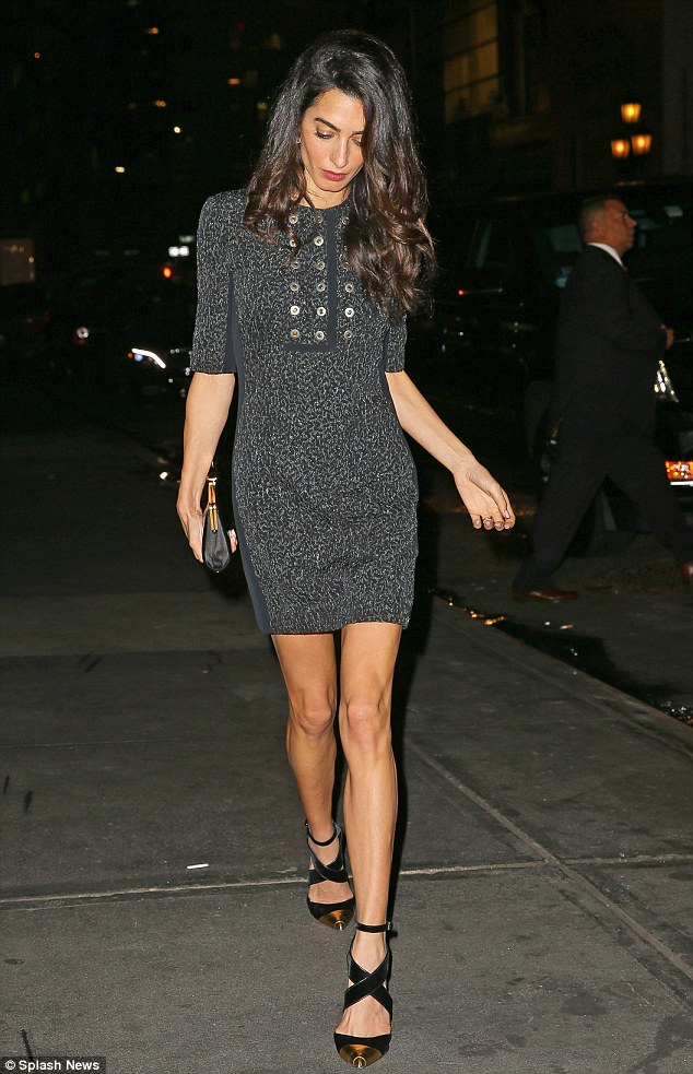 BLOG: Amal Clooney enjoys a girls' night out in New York after