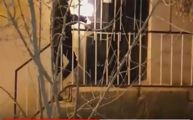 به آتش کشیدن پایگاه بسیج ضدمردمی در شاهرود: