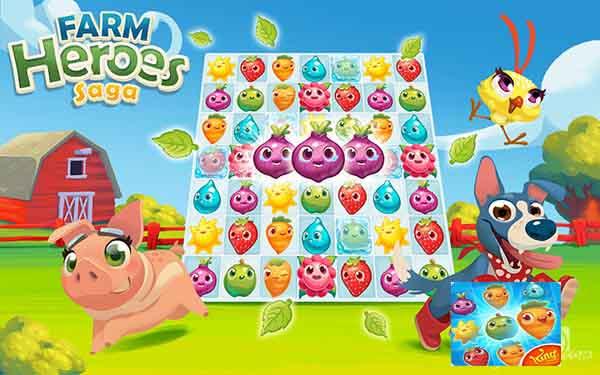 تنزيل Farm Heroes Saga مهكرة اصدار الجديد