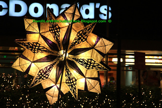 Parol, Christmas display, Ayala Triangle Park, Makati, Manila, Philippines