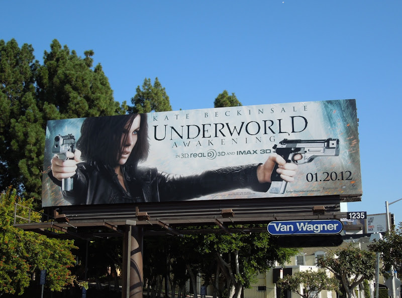 Kate Beckinsale Underworld Awakening billboard