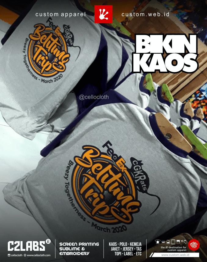 Proses Bikin Kaos Sablon Gathering Gratis Desain For Custom - C2 Labs