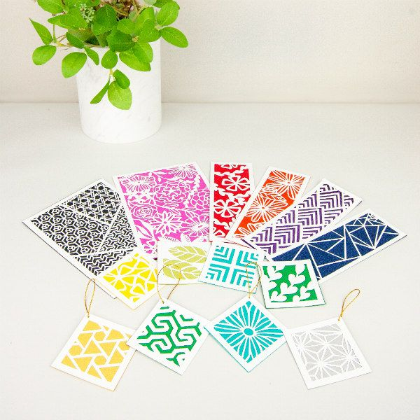 colorful examples of geometric and botanical paper cutting projects