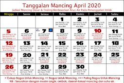 Tanggalan mancing april 2020 update terbaru