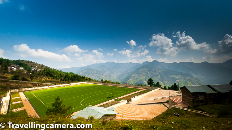The Sports Authority of India Centre in Shilaroo is located at an altitude of 8000 feet in Shimla district of Himachal Pradesh, India. The ground is surrounded by picturesque Narkanda and Hatu peaks, has excellent indoor facilities for handball, volleyball, badminton, basketball, table tennis, fencing and wrestling apart from gymnasium and hostel facilities.     Most of the other facilities were on other side of the main stadium. Hills in the background are famous Hatu peaks.