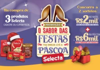Cadastrar Promoção Selecta Chocolates Natal 2020 e Páscoa 2021 - O Sabor das Festas Até a Páscoa