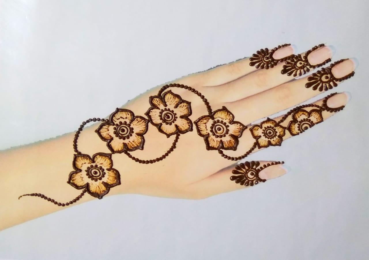 Floral Simple Mehndi Design