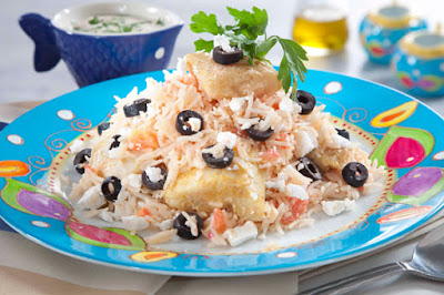 طاجن السمك والأرز