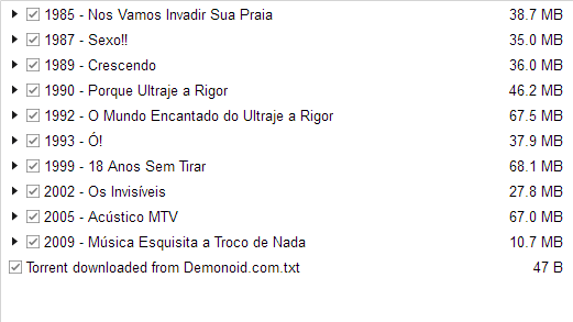 discografia ultraje a rigor mp3