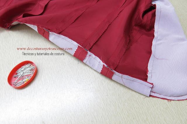 tutorial para forrar una chaqueta o abrigo