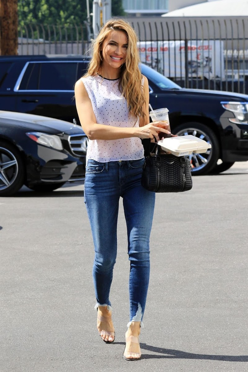 Chrishell Stause Clicked in Denim Arrives at DWTS Studio in Los Angeles  16 Oct -2020