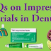 Dental Materials Mcqs for preparation NTS