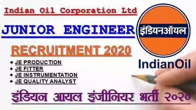 IOCL Junior Engineer Recruitment 2020 Apply Now   Sarkari Naukri [www.iocrefrecruit.in]