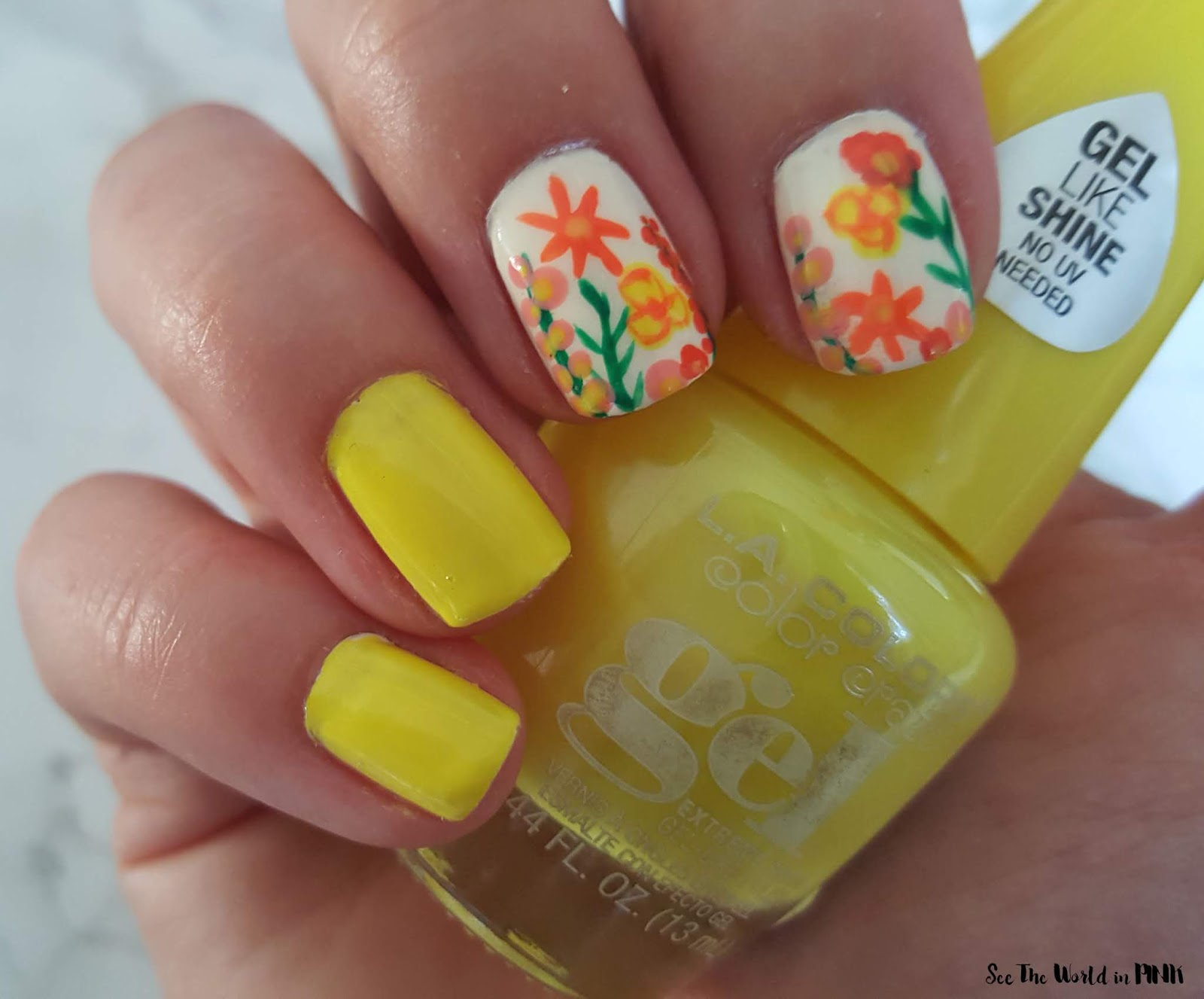 Manicure Monday - Summer Floral Nail Art