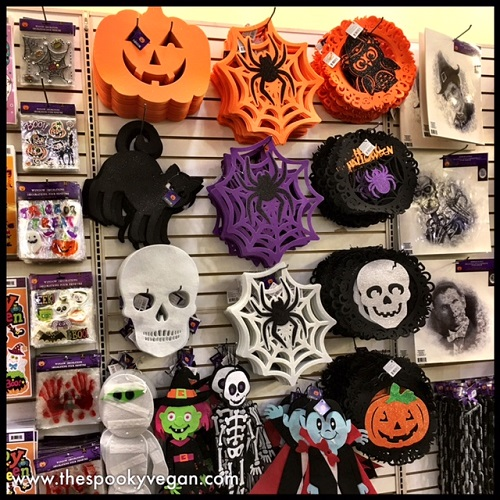 Dollar Tree Pumpkin Chair Covers North Wind The Spooky Vegan Halloween 2017 At More Hanging Decor And Window Clings